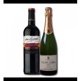 Kit de Vinho e Espumante   - Don Luciano tempranillo 750 ml e Espumante Jaume Serra Cava Brut 750 ml